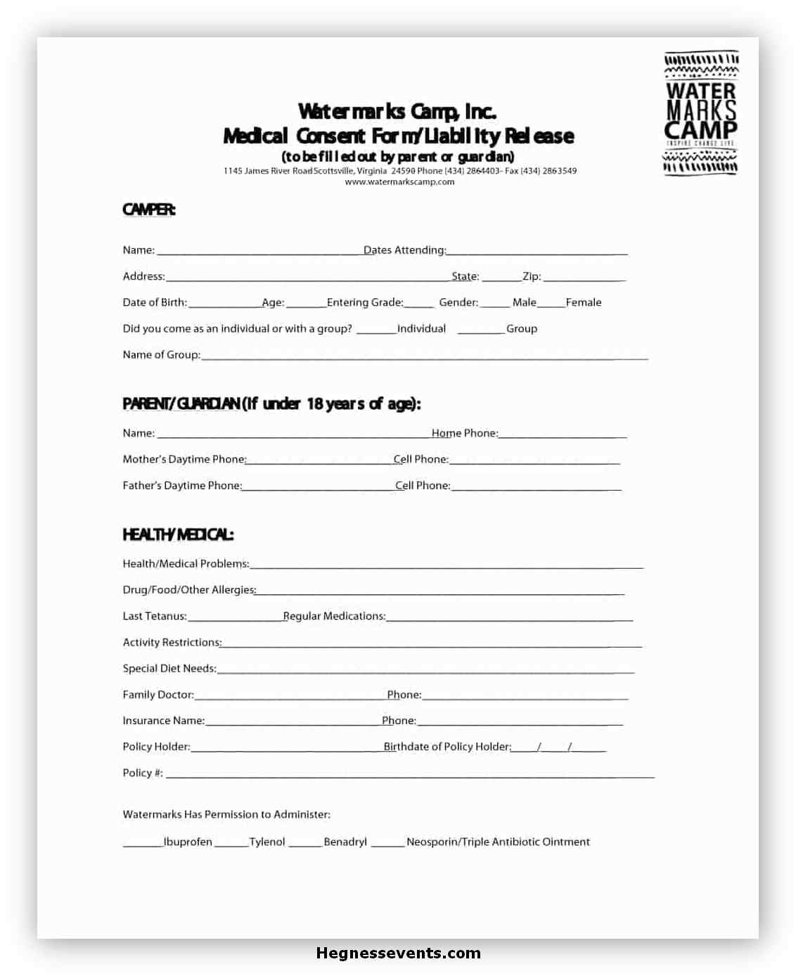 Medical Consent Form Template 13