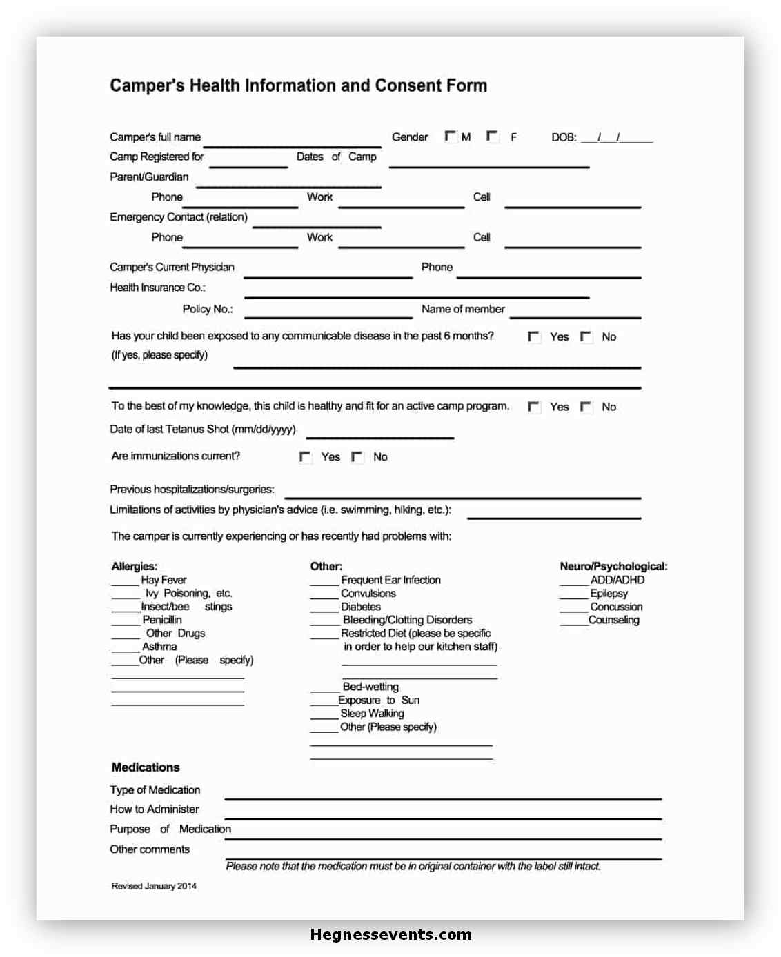 Medical Consent Form Template 14