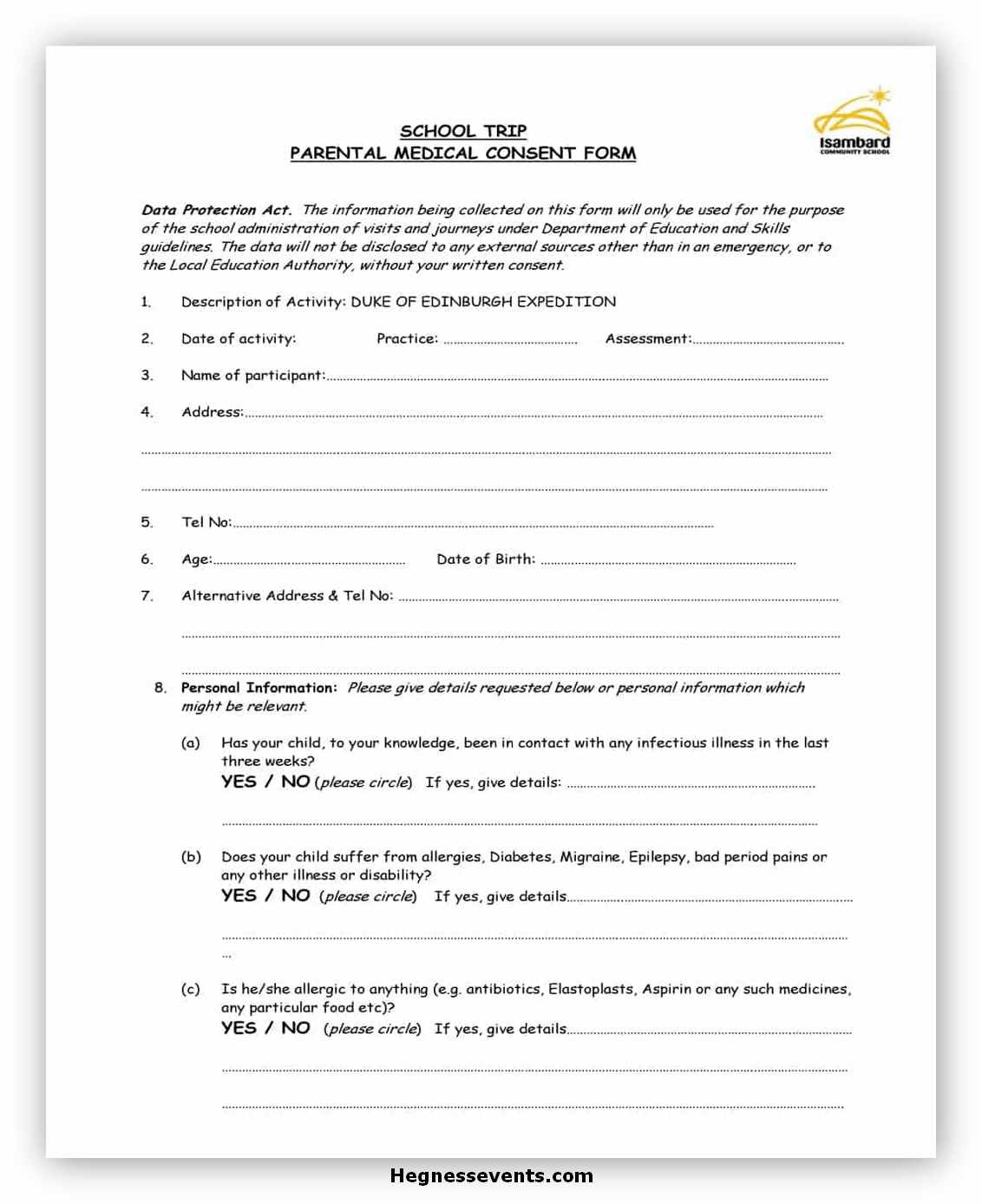 Medical Consent Form Template 16