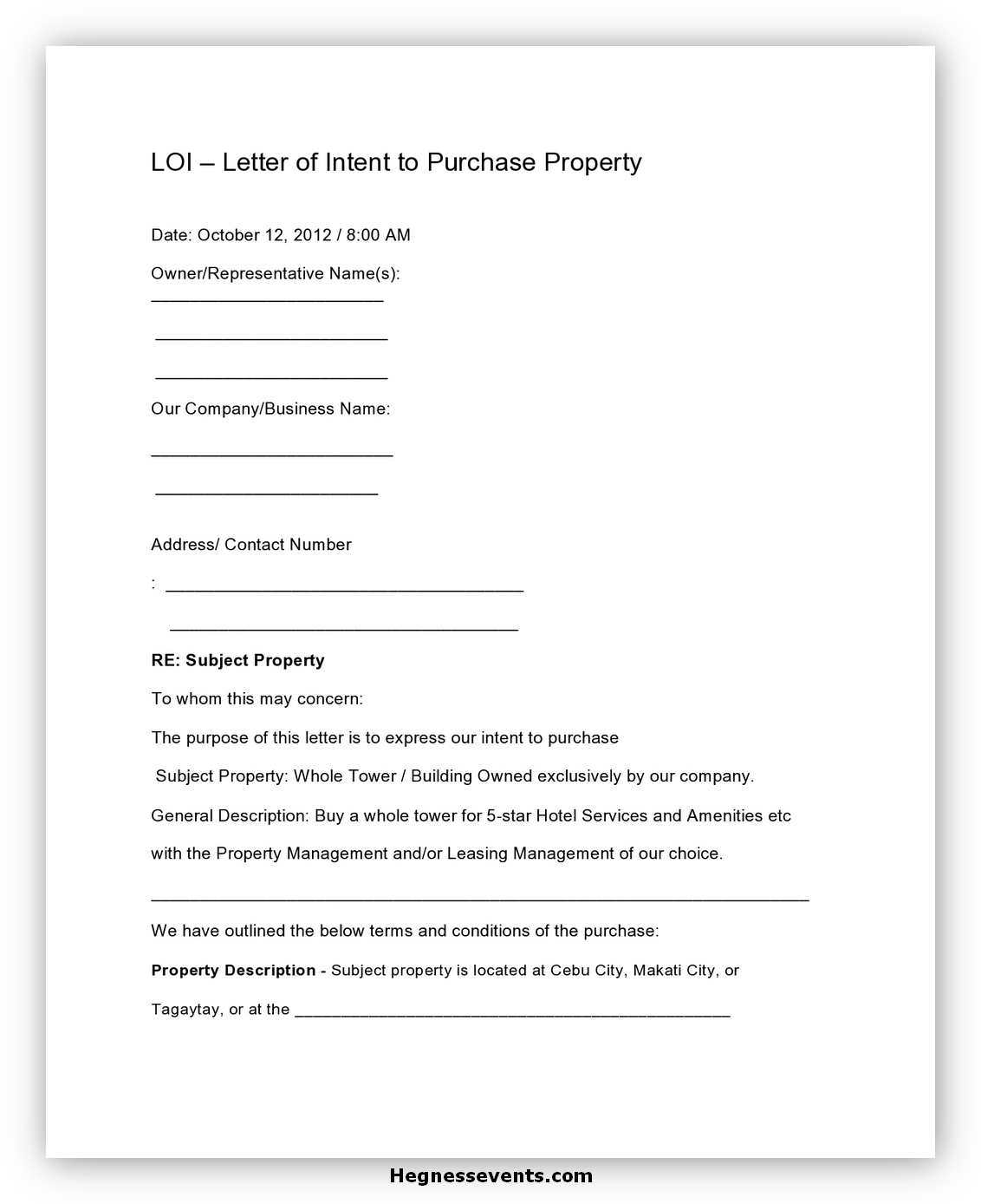 Real Estate Letter of Intent 05