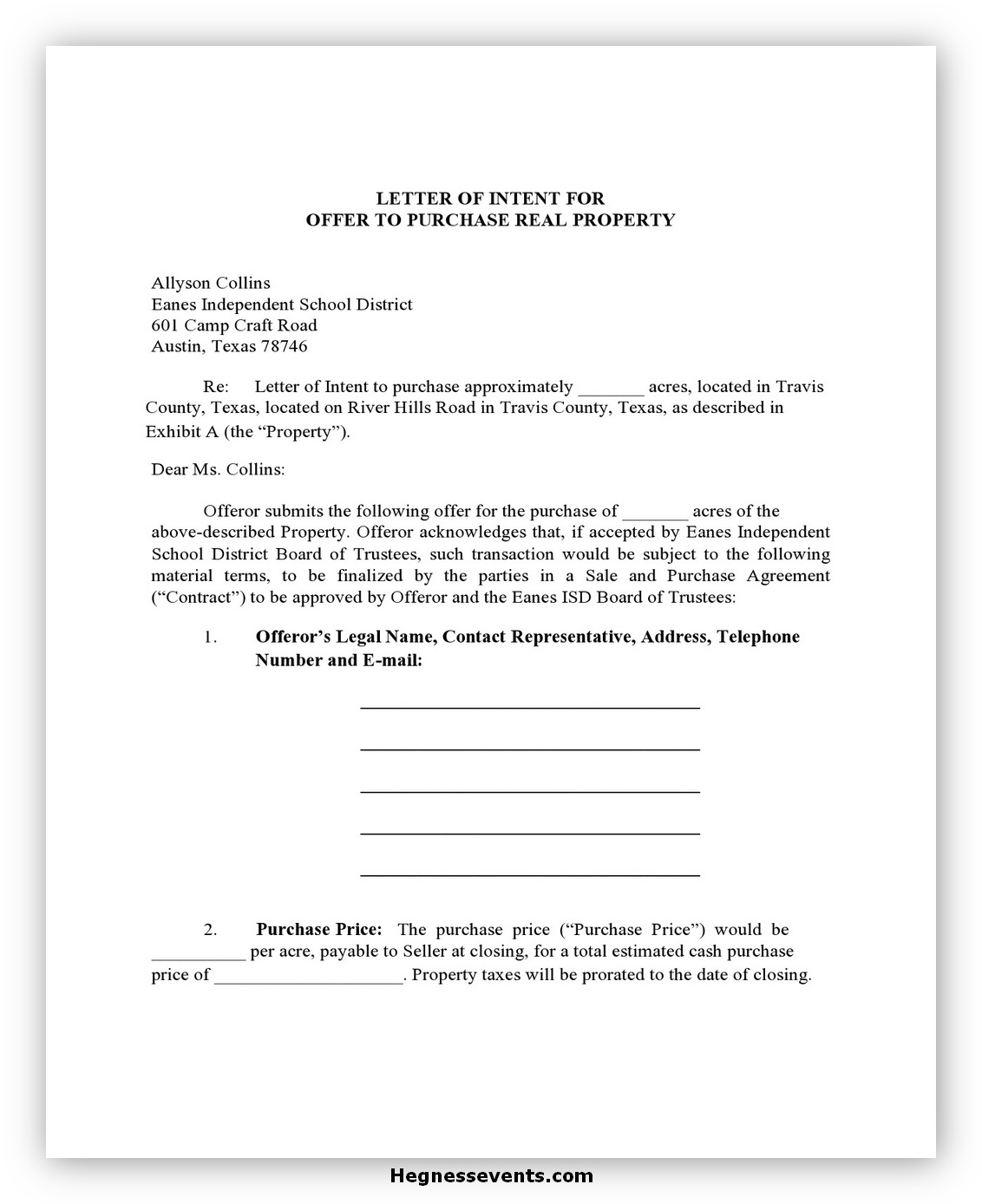 Real Estate Letter of Intent 06