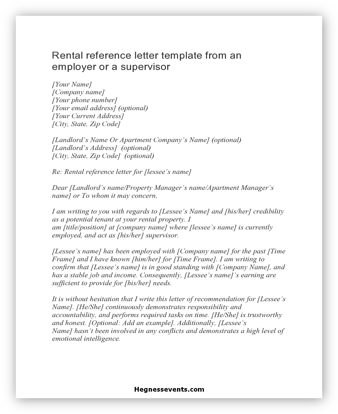 Rental Reference Letter 01