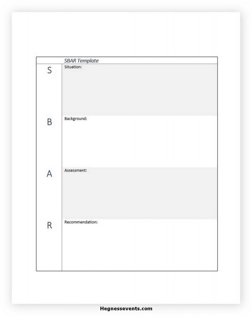 SBAR Template PDF