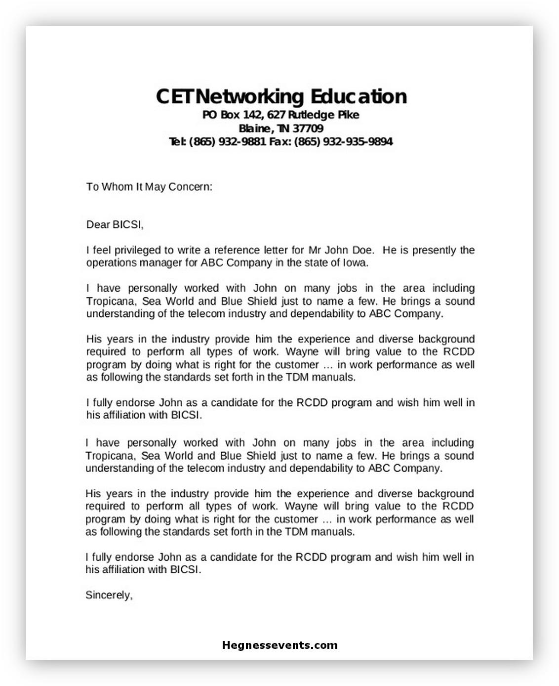 Sample Job Reference Letter