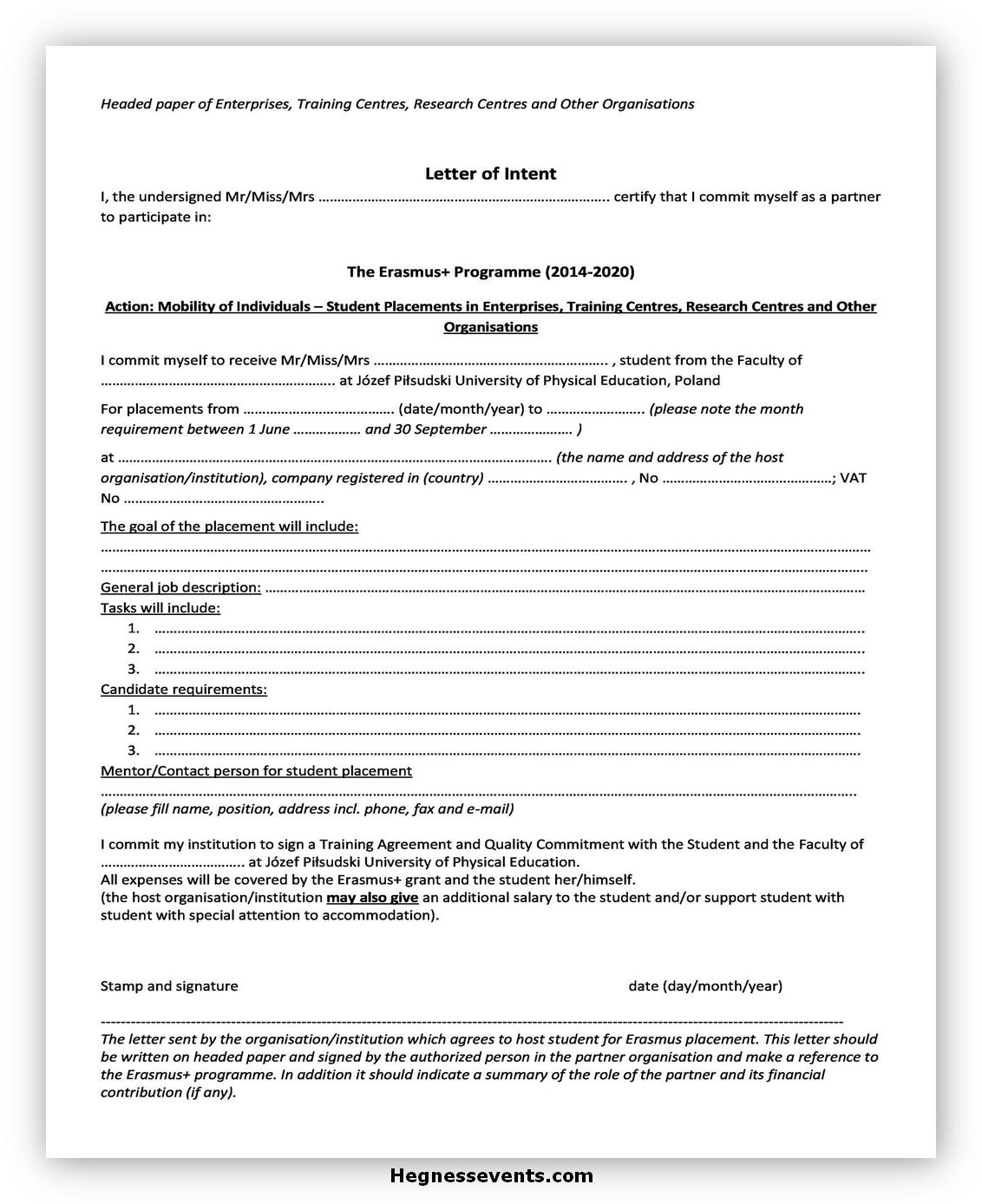 Sample Letter of Intent 01