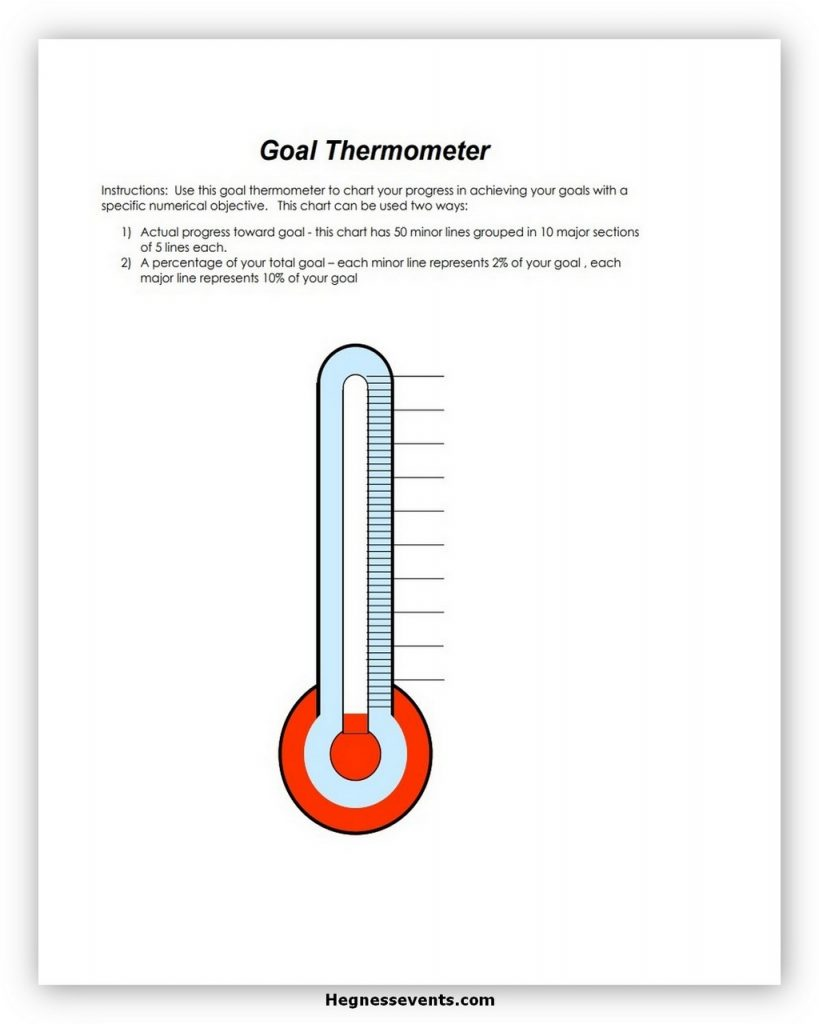 Thermometer Goal Tracker Template 09