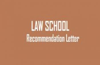 law school recommendation letter 100
