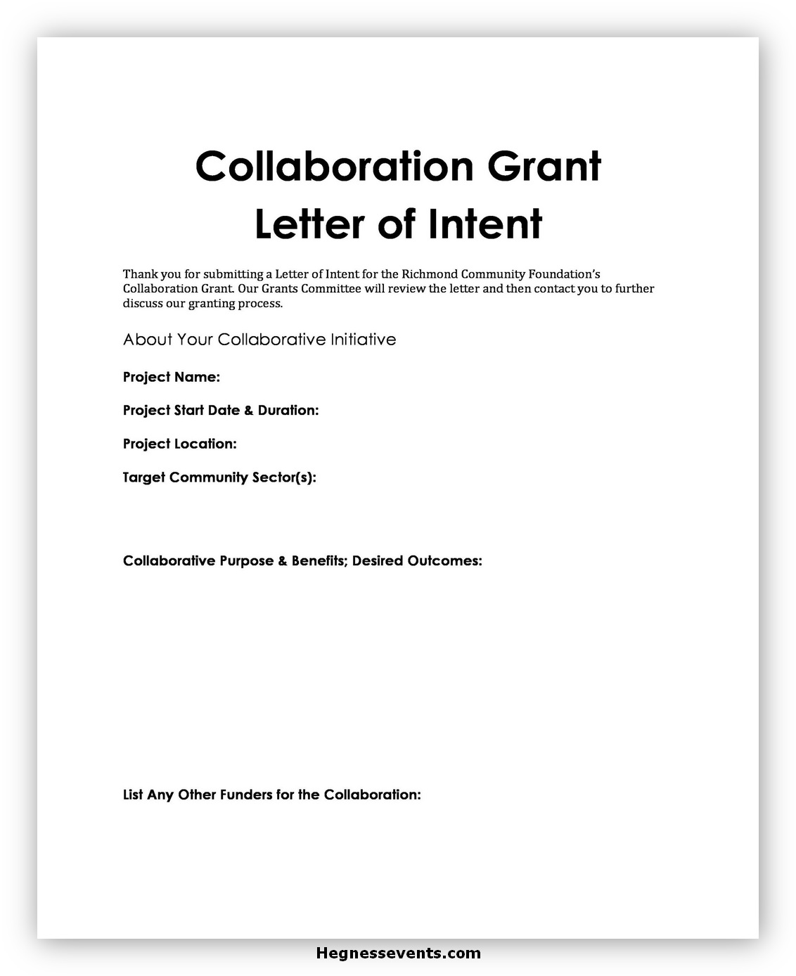 letter of intent format 03