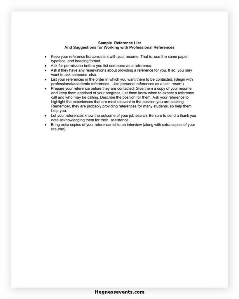 reference list template 09